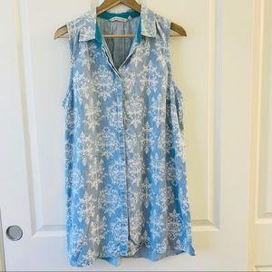 Soft Surroundings jean dress button down L